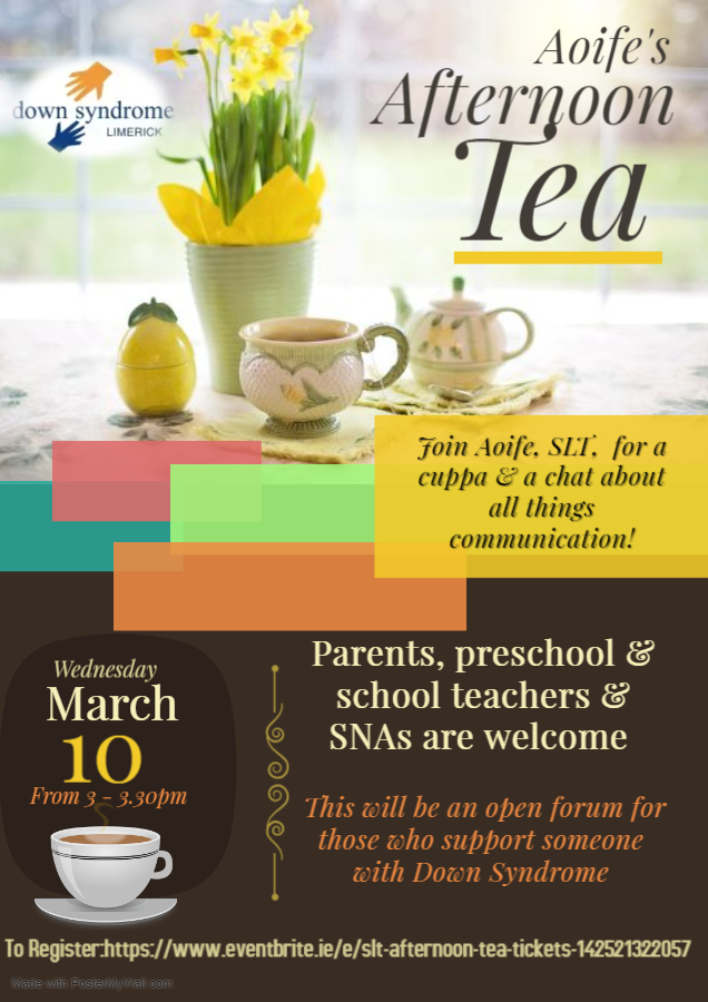 Afternoon Tea Poster March 2021